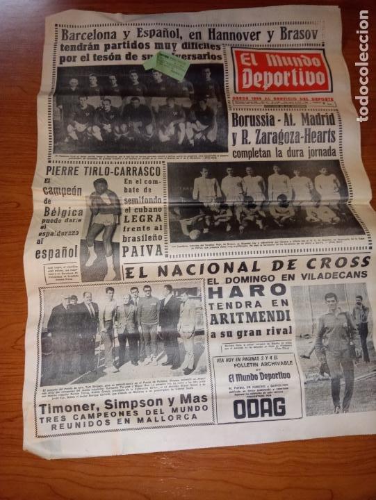 EL MUNDO DEPORTIVO DEL 3 DE MARZO DE 1966 BARCELONA Y ESPAÑOL EN HANNOVER (Coleccionismo Deportivo - Revistas y Periódicos - Mundo Deportivo)