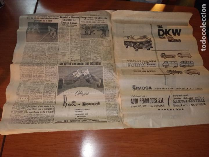 Coleccionismo deportivo: EL MUNDO DEPORTIVO DEL 14 DE FEBRERO 1966 EL MADRID BATIO AL ZARAGOZA Y MANTIENE LAS DISTANCIAS - Foto 6 - 246003005
