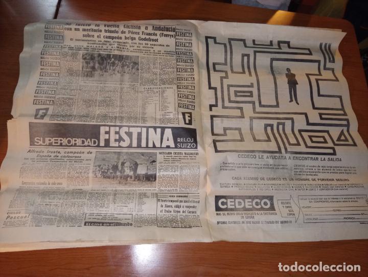 Coleccionismo deportivo: EL MUNDO DEPORTIVO DEL 14 DE FEBRERO 1966 EL MADRID BATIO AL ZARAGOZA Y MANTIENE LAS DISTANCIAS - Foto 7 - 246003005