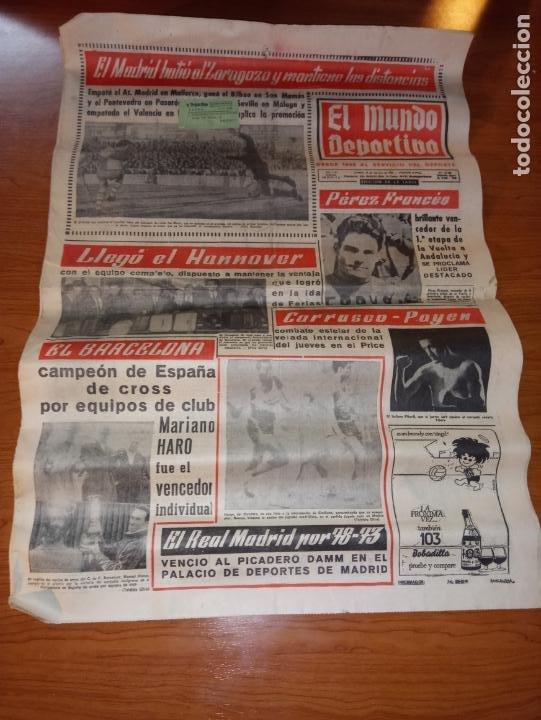 EL MUNDO DEPORTIVO DEL 14 DE FEBRERO 1966 EL MADRID BATIO AL ZARAGOZA Y MANTIENE LAS DISTANCIAS (Coleccionismo Deportivo - Revistas y Periódicos - Mundo Deportivo)