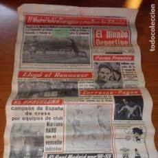 Coleccionismo deportivo: EL MUNDO DEPORTIVO DEL 14 DE FEBRERO 1966 EL MADRID BATIO AL ZARAGOZA Y MANTIENE LAS DISTANCIAS. Lote 246003005