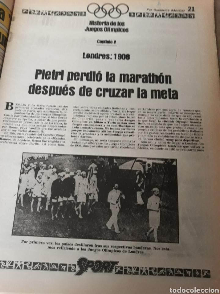 """Coleccionismo deportivo: SPORT 6 JULIO 1984 . HUGO """" HARIA OLVIDAR A MARADONA """".- PLATINI - COLECCIONABLE JUEGOS OLIMPICOS - Foto 9 - 246108730"""
