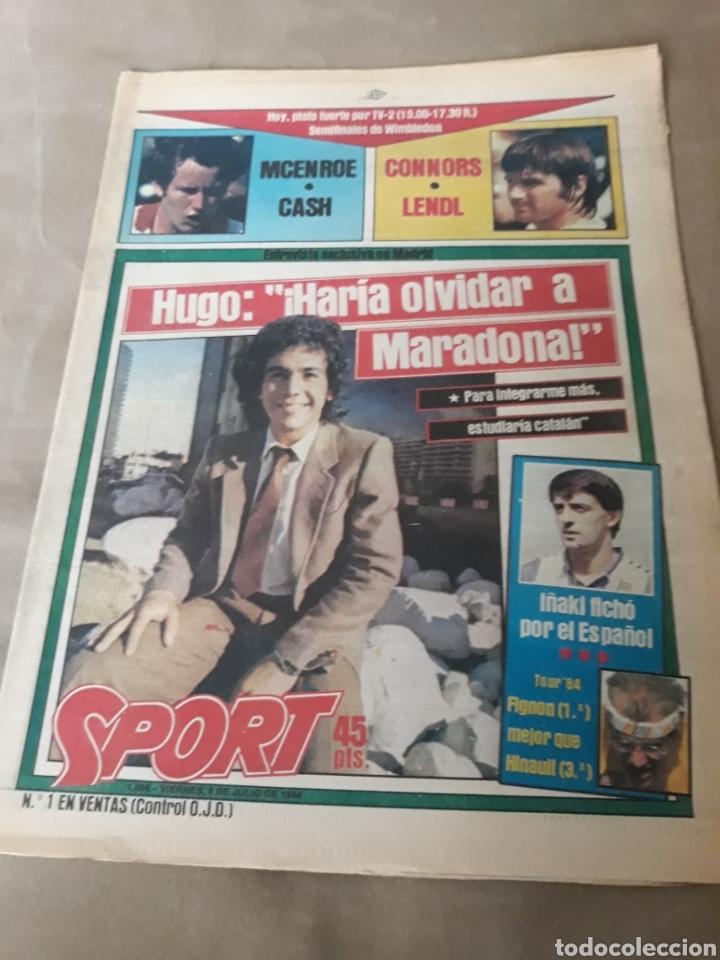"""SPORT 6 JULIO 1984 . HUGO """" HARIA OLVIDAR A MARADONA """".- PLATINI - COLECCIONABLE JUEGOS OLIMPICOS (Coleccionismo Deportivo - Revistas y Periódicos - Sport)"""
