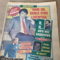 "Coleccionismo deportivo: SPORT 4 JULIO 1984 . VENABLES , ""HARE DEL BARCA OTRO LIVERPOOL"" . CAPITULO II .MARADONA 760 DIAS. Lote 246110715"