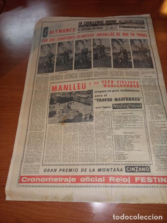 Coleccionismo deportivo: DIARIO EL MUNDO DEPORTIVO DEL 10 DE MARZO DE 1966 MADRID PARTIZAN MANCHESTER EL INTER A SEMIFINALES - Foto 5 - 246113180