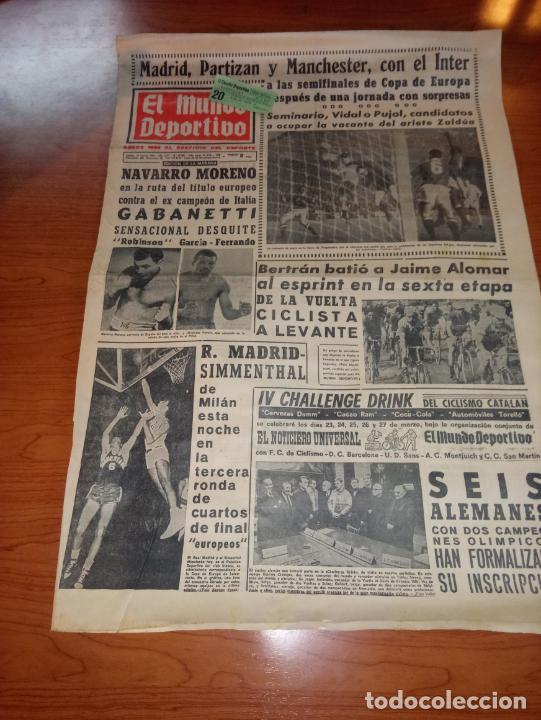DIARIO EL MUNDO DEPORTIVO DEL 10 DE MARZO DE 1966 MADRID PARTIZAN MANCHESTER EL INTER A SEMIFINALES (Coleccionismo Deportivo - Revistas y Periódicos - Mundo Deportivo)
