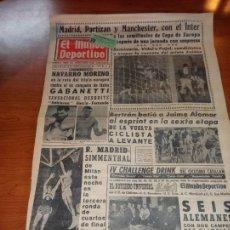 Coleccionismo deportivo: DIARIO EL MUNDO DEPORTIVO DEL 10 DE MARZO DE 1966 MADRID PARTIZAN MANCHESTER EL INTER A SEMIFINALES. Lote 246113180