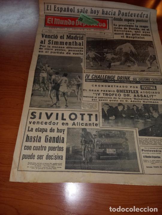 DIARIO EL MUNDO DEPORTIVO DEL 11 DE MARZO DE 1966 EL ESPAÑOL SALE HOY HACIA PONTEVEDRA (Coleccionismo Deportivo - Revistas y Periódicos - Mundo Deportivo)
