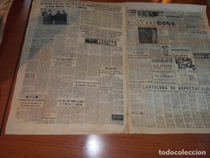 Coleccionismo deportivo: DIARIO EL MUNDO DEPORTIVO DEL 5 DE MARZO DE 1966 ALVAREZ,RAMIREZ,DI STEFANO REAPARECERAN EN SARRIA - Foto 4 - 246114120