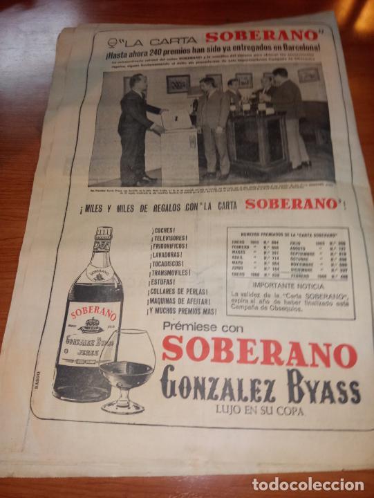 Coleccionismo deportivo: DIARIO EL MUNDO DEPORTIVO DEL 5 DE MARZO DE 1966 ALVAREZ,RAMIREZ,DI STEFANO REAPARECERAN EN SARRIA - Foto 5 - 246114120