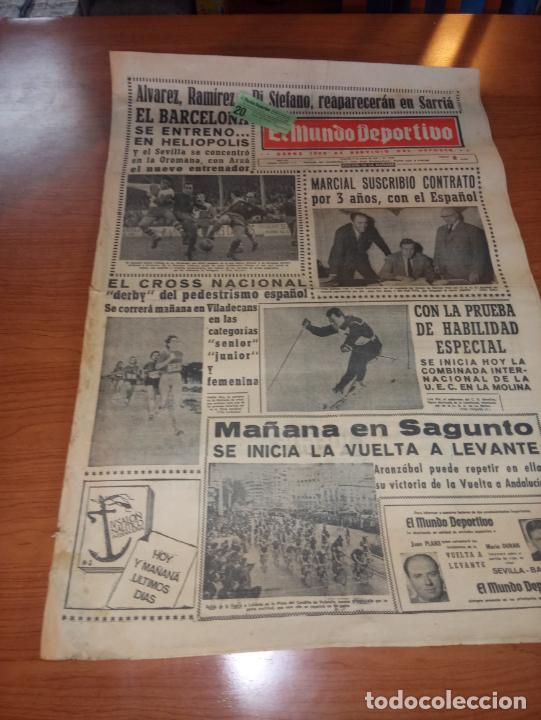 DIARIO EL MUNDO DEPORTIVO DEL 5 DE MARZO DE 1966 ALVAREZ,RAMIREZ,DI STEFANO REAPARECERAN EN SARRIA (Coleccionismo Deportivo - Revistas y Periódicos - Mundo Deportivo)