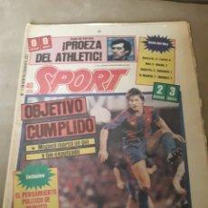 Coleccionismo deportivo: SPORT 20 OCTUBRE 1983 - NIMEGA 2 BARCELONA 3 - LIVERPOOL 0 ATHLETIC BILBAO 0.. Lote 246117500