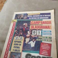 Coleccionismo deportivo: SPORT 28 MARZO 1984 . R.SOCIEDAD 0 BARCA 1. BARCA CAMPEÓN DE LA RECOPA DE BALONMANO.. Lote 246121880