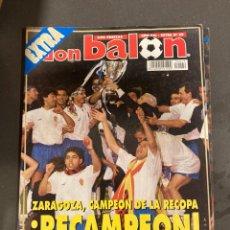Coleccionismo deportivo: EXTRA 29 DON BALON ZARAGOZA CAMPEON RECOPA. Lote 246343430