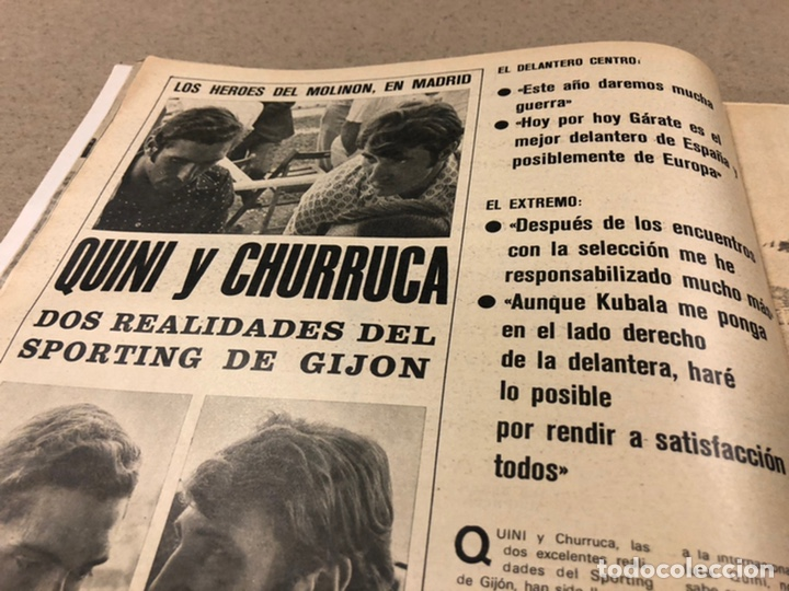 Coleccionismo deportivo: AS COLOR N° 19 (1971). INCLUYE POSTER SABADELL C.F., IRIBAR, ROJO I, QUINI, CHURRUCA, ÁNGEL NIETO,.. - Foto 7 - 246659245