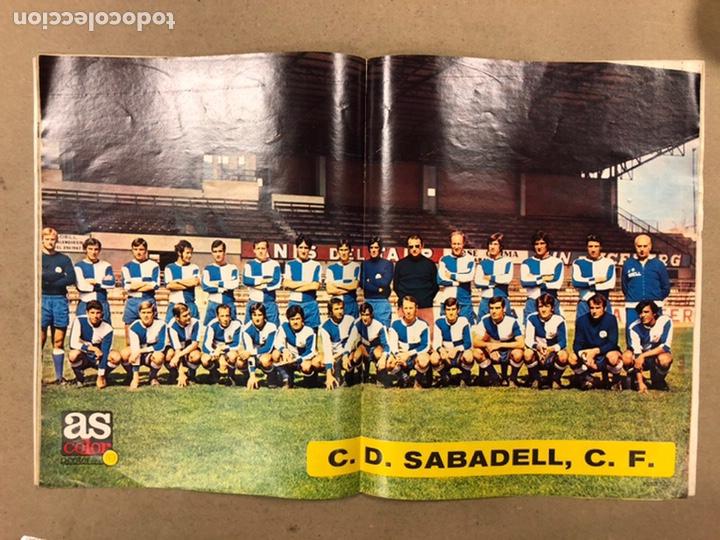 Coleccionismo deportivo: AS COLOR N° 19 (1971). INCLUYE POSTER SABADELL C.F., IRIBAR, ROJO I, QUINI, CHURRUCA, ÁNGEL NIETO,.. - Foto 8 - 246659245