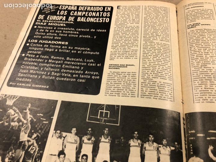 Coleccionismo deportivo: AS COLOR N° 19 (1971). INCLUYE POSTER SABADELL C.F., IRIBAR, ROJO I, QUINI, CHURRUCA, ÁNGEL NIETO,.. - Foto 9 - 246659245