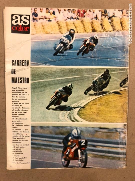 Coleccionismo deportivo: AS COLOR N° 19 (1971). INCLUYE POSTER SABADELL C.F., IRIBAR, ROJO I, QUINI, CHURRUCA, ÁNGEL NIETO,.. - Foto 11 - 246659245
