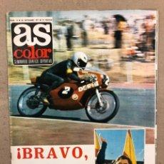 Coleccionismo deportivo: AS COLOR N° 19 (1971). INCLUYE POSTER SABADELL C.F., IRIBAR, ROJO I, QUINI, CHURRUCA, ÁNGEL NIETO,... Lote 246659245