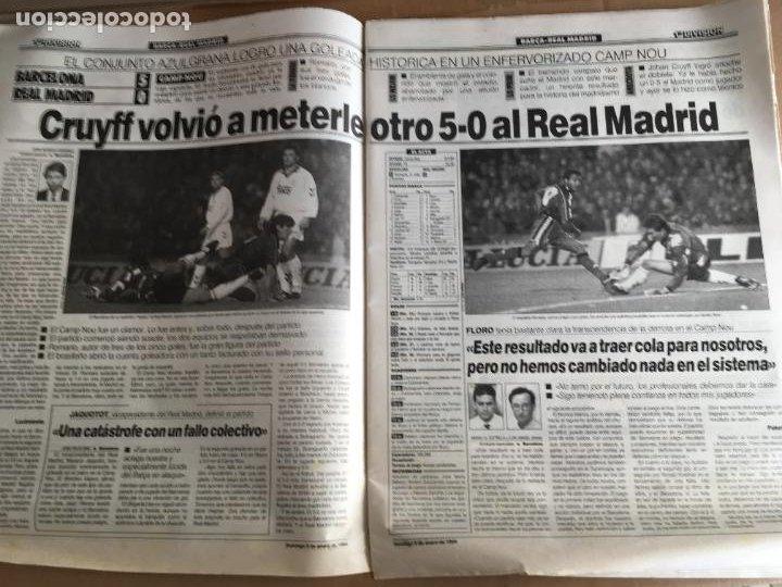 Coleccionismo deportivo: diario marca 5-0 barça madrid 9 enero 1994 romario cruyff nº 16449 - Foto 2 - 247062905