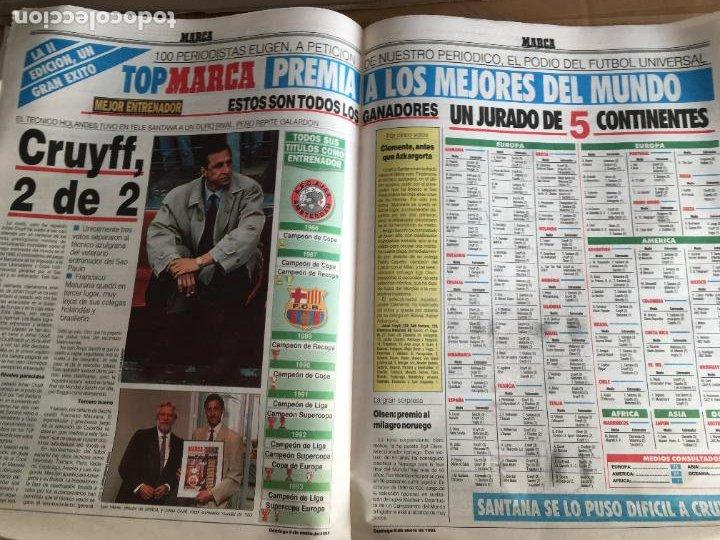 Coleccionismo deportivo: diario marca 5-0 barça madrid 9 enero 1994 romario cruyff nº 16449 - Foto 3 - 247062905
