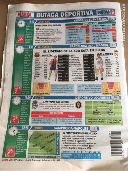 Coleccionismo deportivo: diario marca 5-0 barça madrid 9 enero 1994 romario cruyff nº 16449 - Foto 4 - 247062905