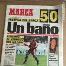 Coleccionismo deportivo: DIARIO MARCA 5-0 BARÇA MADRID 9 ENERO 1994 ROMARIO CRUYFF Nº 16449. Lote 247062905