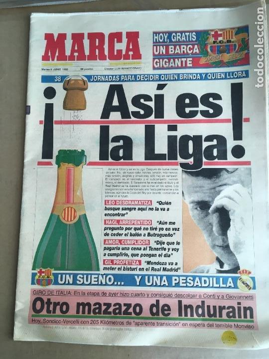 DIARIO MARCA ASI ES LA LIGA TEMPORADA 91-92 BARÇA CAMPEON Nº 15875 9 JUNIO 1992 (Coleccionismo Deportivo - Revistas y Periódicos - Marca)
