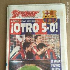 Coleccionismo deportivo: DIARIO SPORT 5-0 BARÇA MADRID DREAM REAM CRUYFF 9 ENERO 1994 OTRO 5-0 Nº 5089. Lote 247072470