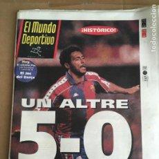 Coleccionismo deportivo: DIARIO MUNDO DEPORTIVO 5-0 BARÇA MADRID DREAM TEAM ROMARIO CRUYFF 9 ENERO 1994 Nº 22469. Lote 247072985