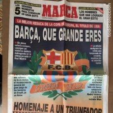 Coleccionismo deportivo: DIARIO MARCA BARÇA QUE GRANDE ERES LIGA 91-92 CRUYFF DREAM TEAM 9 JUNIO 1992. Lote 247076065