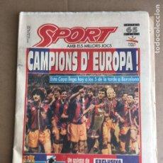 Coleccionismo deportivo: DIARIO SPORT BARÇA CAMPIONS COPA D'EUROPA 1992 CRUYFF DREAM TEAM Nº 4496 21 MAYO 1992. Lote 247077170