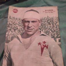Coleccionismo deportivo: POSTER PERIÓDICO FUTBOL MARCA AÑOS 50 , ALVARITO , CELTA DE VIGO. Lote 247439160