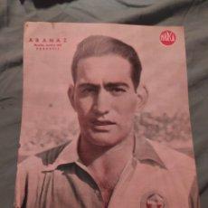 Coleccionismo deportivo: POSTER PERIÓDICO MARCA AÑOS 50 , ARANAZ , SABADELL. Lote 247439820