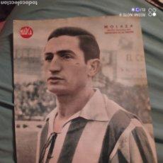 Coleccionismo deportivo: POSTER PERIÓDICO FUTBOL MARCA AÑOS 50 , MOLAZA , DEPORTIVO DE LA CORUÑA. Lote 247439990