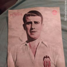 Coleccionismo deportivo: POSTER PERIÓDICO FUTBOL MARCA AÑOS 50 , LECUE , VALENCIA. Lote 247441005