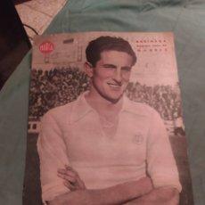 Coleccionismo deportivo: POSTER PERIÓDICO FUTBOL MARCA AÑOS 50 , BARINAGA , MADRID. Lote 247442045