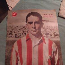 Coleccionismo deportivo: POSTER FUTBOL PERIÓDICO MARCA AÑOS 50 , AMESTOY , ATLÉTICO AVIACION. Lote 247442750