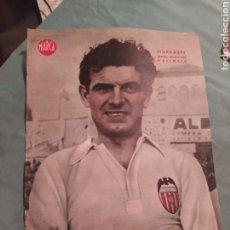 Coleccionismo deportivo: POSTER PERIÓDICO FUTBOL MARCA AÑOS 50 , ITURRASPE , VALENCIA. Lote 247442815
