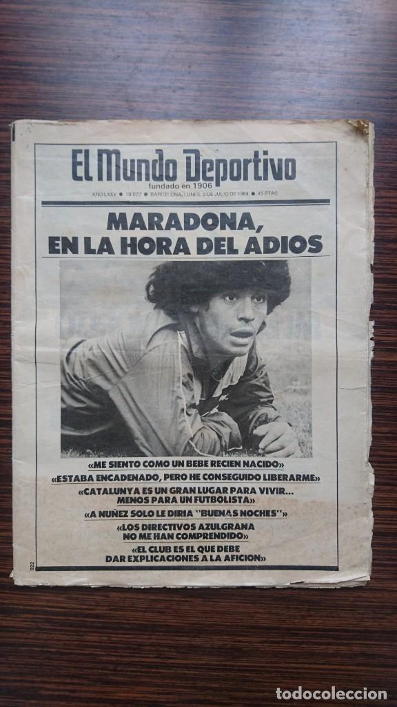 """MARADONA """"LA HORA DEL ADIOS"""" (Coleccionismo Deportivo - Revistas y Periódicos - Mundo Deportivo)"""