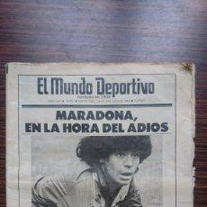 """Coleccionismo deportivo: MARADONA """"LA HORA DEL ADIOS"""". Lote 248029520"""