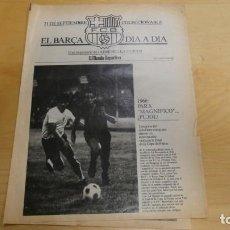 Coleccionismo deportivo: REVISTA EL BARÇA DIA A DIA . EL MUNDO DEPORTIVO . 21 DE SEPTIEMBRE.. Lote 248151260