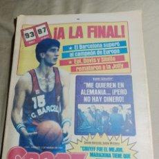Coleccionismo deportivo: SPORT 2 MARZO 1984 BARCELONA A LA FINAL. MICHELS , CRUYFF FUE EL MEJOR MARADONA TIENE QUE DEMOSTRAR. Lote 248589115