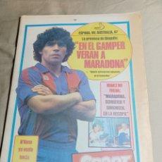 Colecionismo desportivo: SPORT 23 AGOSTO 1982 EN EL GAMPER VERAN A MARADONA ESPAÑA VENCE A AUSTRALIA 99 -87 .MANCHESTER U. Lote 248595115