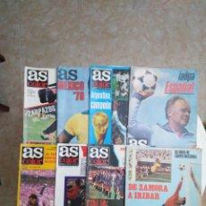 Coleccionismo deportivo: LOTE DE 8 AS COLOR ( TODAS TRAEN PÓSTER EN PÁGINAS CENTRALES ). Lote 248605555