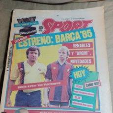 Coleccionismo deportivo: SPORT 21 AGOSTO 1984 BARCA 85 VENABLES Y ARCHI NOVEDADES . COLECCIONABLE SPORT Nº 16 ZARAGOZA. Lote 248668410