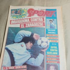 Coleccionismo deportivo: SPORT 3 ABRIL1984. ¡ MARADONA CONTRA EL ZARAGOZA!. PICHI ALONSO NACIDO PARA EL GOL. Lote 248678140