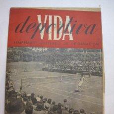 Collectionnisme sportif: VIDA DEPORTIVA-NUMERO 20-AÑO 1945-CONCURSO INTERNACIONAL TENIS BARCELONA-COPA-VER FOTOS-(V-22.599). Lote 248774285