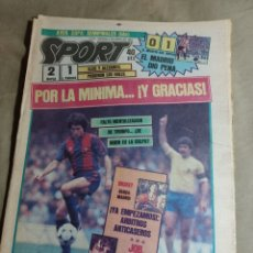 Coleccionismo deportivo: SPORT 5 ABRIL1984. SEMIFINALES COPA BARCA 2 LAS PALMAS 1 - REAL MADRID 0 ATH BILBAO 1- COLEGIO CLOSA. Lote 248953705