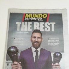 Coleccionismo deportivo: MUNDO DEPORTIVO: MESSI GANA THE BEST AÑO 2019. Lote 249268700